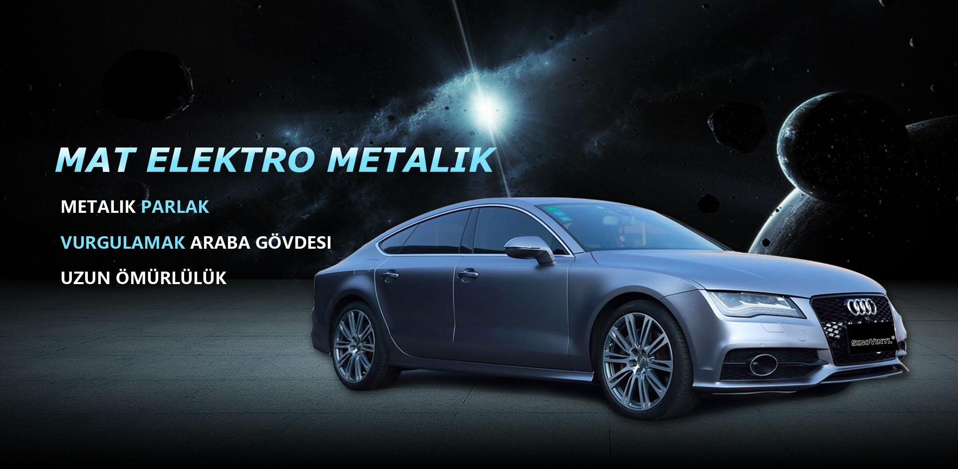 CARLIKE CL-EM Mat Elektro Metalik Vinil Araç Kaplama