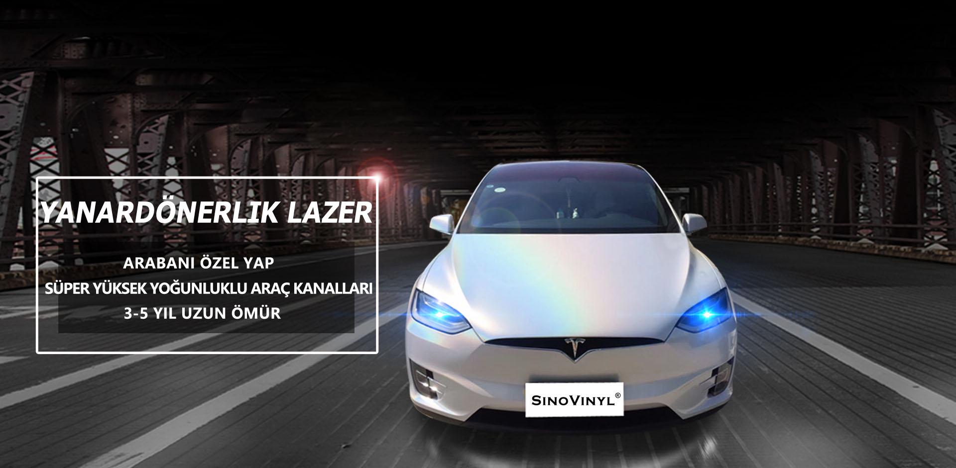 CARLIKE CL-IL Yanardöner Lazer Parıltı Araba Sarmak Vinil çıkartması